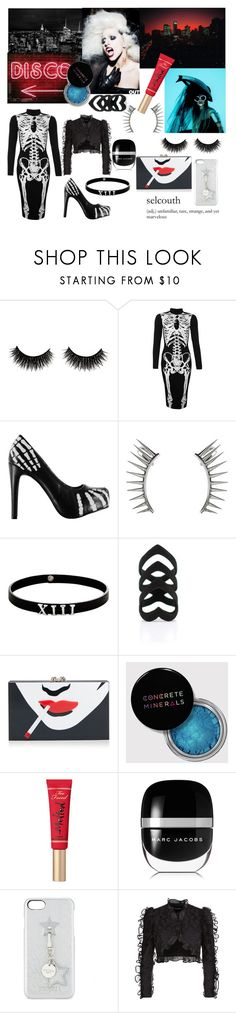 """""""Lady Gaga - Night in the city"""" by ladydelirium ❤ liked on Polyvore featuring Iron Fist, Latelita, Lynn Ban, The Rogue + The Wolf, Too Faced Cosmetics, Marc Jacobs, Iphoria and Dolce&Gabbana"""