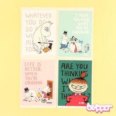 Moomin Lovely Text Card & Envelope - Stationery | Blippo Kawaii Shop