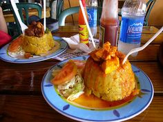 Fried and Mashed Green Plantain (Mofongo)