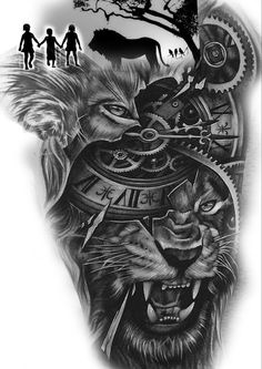 Lion Chest Tattoo, Lion Tattoo Sleeves, Lion Head Tattoos, Wolf Tattoo Sleeve, Temporary Tattoo Sleeves, Mens Lion Tattoo, Cool Chest Tattoos, Chest Tattoos For Women, Arm Tattoos For Guys