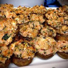 Crab Stuffed Mushroom: swap cream cheese for laughing cow