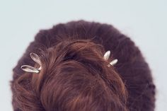 Rabbits in my head hairpin sterling silver by LenaYastreb on Etsy, $49.00