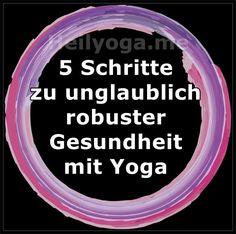 """Abonniere hier meine 🕉️ Heilyoga-Impulse, und ich schenke dir mein Ebook """"5 Schritte zu unglaublich robuster Gesundheit mit Yoga"""". Das bringt dich weiter mit deiner Lebenskraft und Freude. Pranayama, Stress, Yoga, Bronchitis, Impulse, Holistic Practitioner, Immune System, Joie De Vivre, Healing"""
