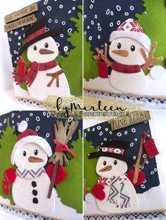 Aftellen naar kerstavond... Deze sneeuwmannen hebben we zin in het kerstfeest, jullie ook?! Werkbeschrijving: Snijd een topv...