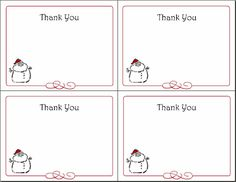 6 Printable Holiday Gift Tags, Christmas Cards, Thank You Notes, and Greeting Cards | Squawkfox