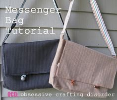 ocd: obsessive crafting disorder: Bag Lady Week- Messenger Bag Tutorial