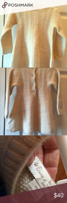 Oscar Valentine Cashmere dress Cashmere knit soft and elegant.  NWOT.  Wear as top with leggings or as a dress. Oscar de Valentino Dresses Casual