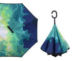 Fantasy Design Luminous Fairy Girl Windproof Double Layer C-Shaped Handle Car Reverse Umbrella UV Protection /& Rain Unique Umbrella
