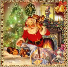Twas the night before Christmas and all through the house not a creature........