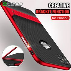 OICGOO 360 Protective Support PC+TPU Shock Proof Holder Case For iPhone 7 6 Plus 7 6 6S Phone Cases For iPhone X Case Full Cover //Price: $9.95 & FREE Shipping //     #hashtag1