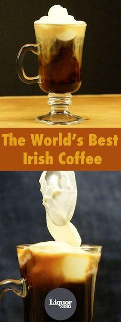 Irish Coffee with brown sugar simple syrup