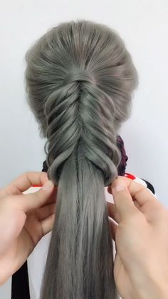 Cute Girls Hairstyles Cute Girls Hairstyles Today, we're gonna be doing a really, really pretty mixed braid, I hope yo Cute Girls Hairstyles, Creative Hairstyles, Teenage Hairstyles, Braided Hairstyles Tutorials, Easy Hairstyles, Hairstyles Videos, Hairstyles 2018, Curly Hair Styles, Natural Hair Styles