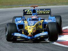 Poster & Bilder Renault F1 Team R24 Fernando Alonso 2004 Promotion Formula 1 Poster Double Sided