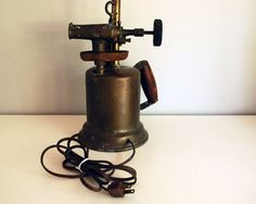 Antique Blow Torch Table Lamp Industrial Lighting от CalloohCallay