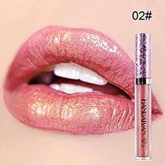 Weisy 6 Couleurs Hydratant Étanche Diamant Shimmer Liquide Rouge À Lèvres Mat Métallique Brillant À Lèvres Longue Durée