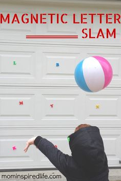 Magnetic Letter Slam - Mom Inspired Life