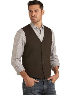 Twin Hill Brown Tailored Vest - Men's Wearhouse - pinned BY chris!!!!