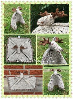 Christels handarbete: Virkad snuttefilt älg Crochet Security Blanket, Crochet Baby, Barn, Moose, Converted Barn, Mousse, Crochet For Baby, Elk, Crochet Blankets