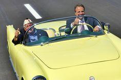 Cuomo Commemorates New Tappan Zee Bridge in a Yellow Corvette Mario Cuomo, Yellow Corvette, Tappan Zee Bridge, David, Author, Writers