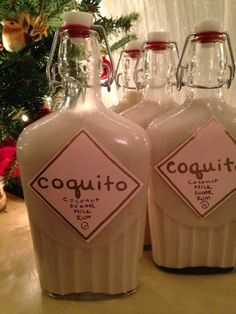 Kitchen Roots: Coquito, Tropical Coconut Eggnog from Puerto Rico - Drinks Cocktails, Cocktail Drinks, Fun Drinks, Yummy Drinks, Alcoholic Drinks, Cocktail Recipes, Martinis, Dinner Recipes, Puerto Rican Dishes