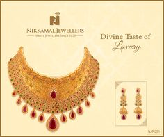 Amazing wedding collection in Gold Jewellery available at Nikkamal Jewellers, Ludhiana & Jalandhar Showrooms! Gold Pendant, Pendant Jewelry, Gold Jewellery, 2d, Crochet Necklace, Chokers, Wedding Inspiration, Animation, Graphics