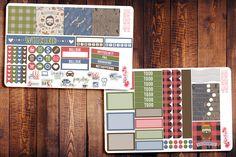 Flannel Friend Mini Happy Planner Sticker Kit F011 #planner #erincondren