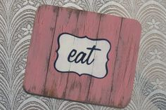Distressed Wood Place Mats by Mossie Hipster Chic, Distressed Wood, Place Mats, How To Distress Wood, Bamboo Cutting Board, Fun, Tray, Gifts, Wedding Ideas