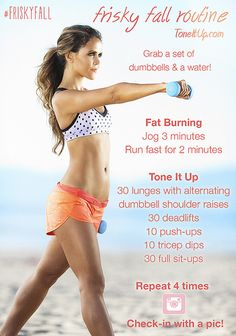 Your 8 Week #FriskyFall Fitness Challenge!