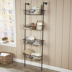 4-Tier Wire Basket Wall Shelf #birchlane