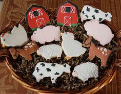 BARN YARD Farm Animals Sugar Cookies by KarlasHouseofCookies, $48.00