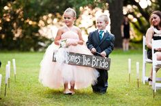 Adorable flower girl and ring bearer!