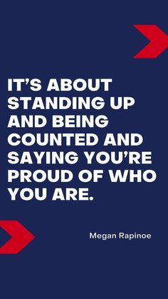 What's your favorite soccer quote? Find this one, and more, on the list of my top 25! Megan Rapinoe, Soccer Quotes, Soccer Fans, Stand Up, Thoughts, Sayings, My Love, Top, Get Back Up