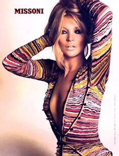 so much to love. the tan, the colors, kate moss, missoni!!!
