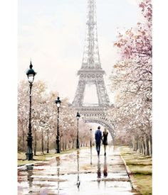 One day in Paris. One day in Paris. Paris Torre Eiffel, Paris Eiffel Tower, Eiffel Tower Painting, One Day In Paris, Paris Wallpaper, Paris Painting, Beautiful Paris, Painting People, Couple Painting