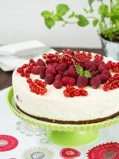 Sernik na zimno z masą śmietanową i owocami #recipe #panitereska #cheesecake