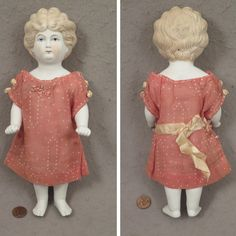 Antique 10 inch All Bisque Frozen Charlotte Doll