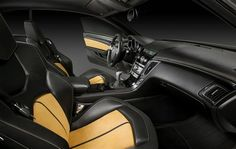 2012 Cadillac CTS V yellow and black interior kind of orange looking