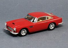 """Spark S2416 1958 Aston Martin DB4 Red 1:43 Scale Car 1:43 Scale Resin, approximately 4"""" long Spark Model Includes Display Case Part # S2416"""