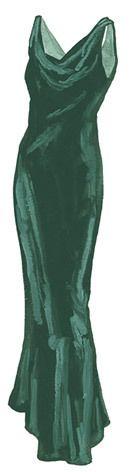 Glamorous J Peterman Velvet Evening Dress 1930's Styling | eBay