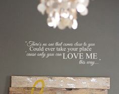 Keith Urban 'Only you can love me this way' Wall Decal by WallAffection, £16.00