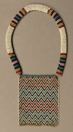 Old beaded necklace | Zulu people (?) South Africa