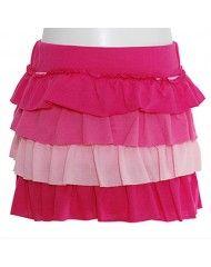 Sophias Style: Fuchsia Pink Layered Ruffle Skirt for girls