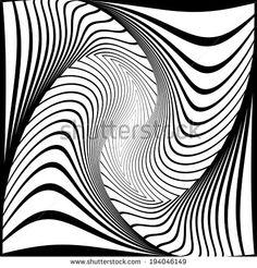 Design monochrome vortex movement illusion background. Abstract stripy torsion twisted backdrop. Vector-art illustration - stock vector