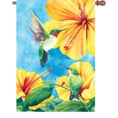 28 In Flag - Hummingbird Hibiscus