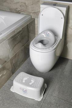 Dětské WC sedátko Medvídek, šedá : SAPHO E-shop Bathroom Accessories, Toilet, Retro, Bamboo, Bathroom Fixtures, Flush Toilet, Toilets, Retro Illustration, Toilet Room