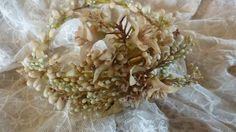 Delicious  bride's French wax orange blossom wedding crown tiara