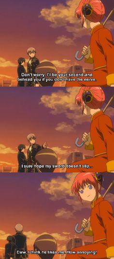 Gintama: Kagura and Okita, major ship! (This would be my last one, I promise =)))
