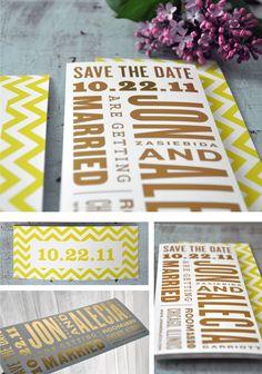 MY wedding save the dates! Beautiful.