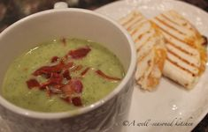 Zucchini Soup with Turkey and Cheddar Panini - A Well Seasoned Kitchen
