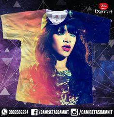 Camiseta Rihanna  https://www.facebook.com/CamisetasDamnit/
